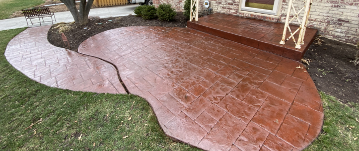Millennium Decorative Concrete - Stamped Patio